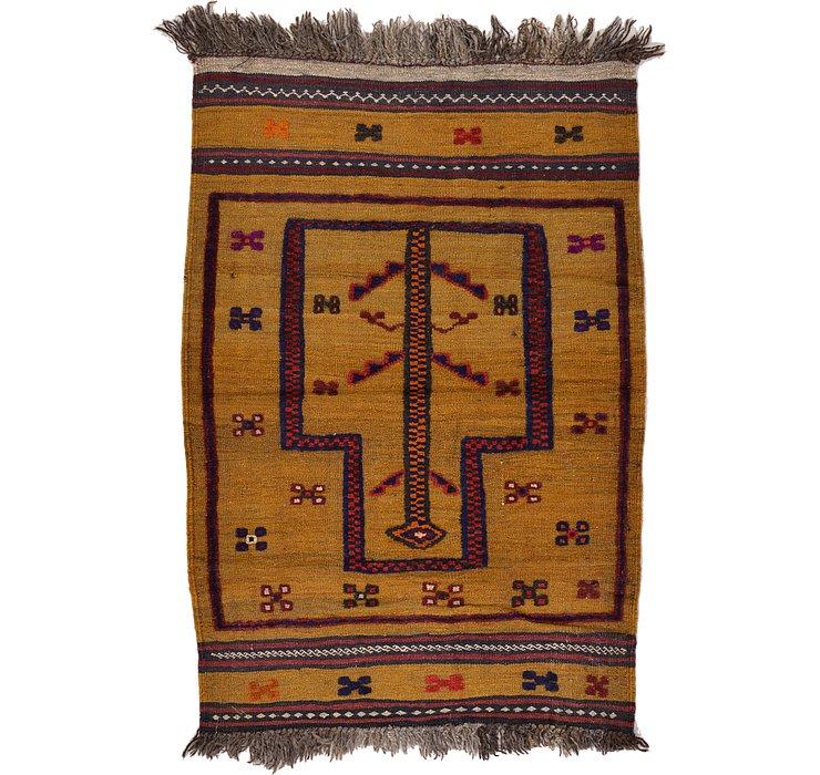 2' 9 x 3' 11 Kilim Afghan Rug