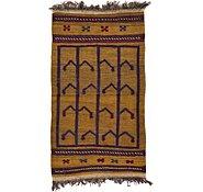Link to 2' 4 x 4' 3 Kilim Afghan Rug