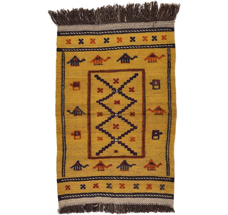 2' 7 x 3' 11 Kilim Afghan Rug