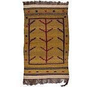 Link to 2' 4 x 3' 10 Kilim Afghan Rug