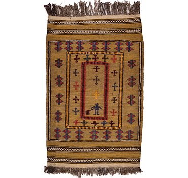 76x122 Kilim Afghan Rug
