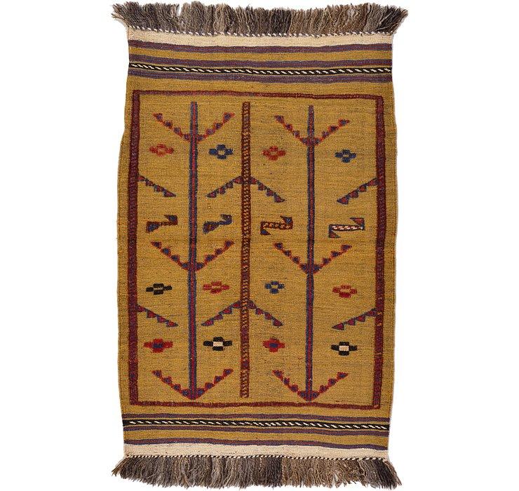 2' 8 x 4' 1 Kilim Afghan Rug