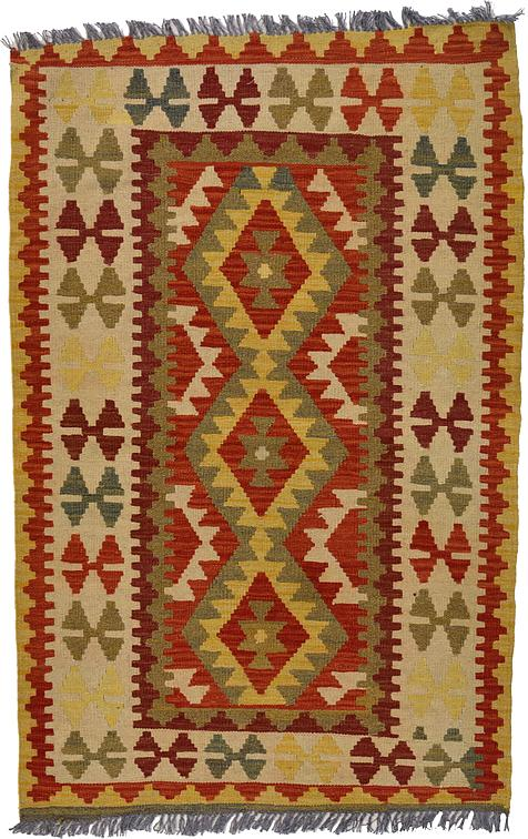 Orange 3 4 X 5 1 Kilim Maymana Rug Area Rugs Irugs Uk