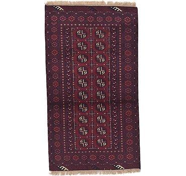 102x183 Afghan Akhche Rug