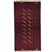 Link to 102cm x 188cm Afghan Akhche Rug