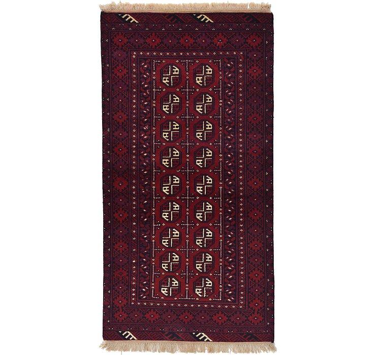 3' 3 x 6' 5 Afghan Akhche Rug