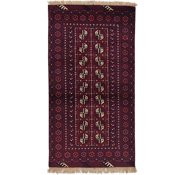 3' 4 x 6' 4 Afghan Akhche Rug