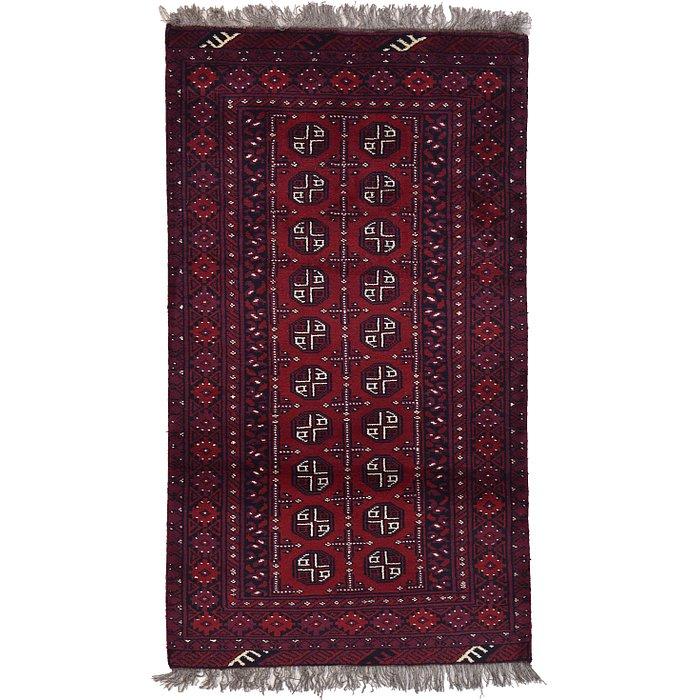 3' 4 x 5' 10 Afghan Akhche Rug