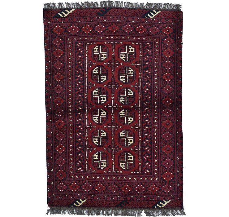 3' 3 x 4' 9 Afghan Akhche Rug