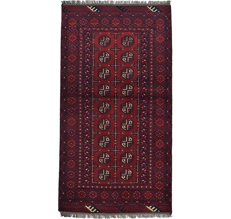 3' 5 x 6' 3 Afghan Akhche Rug