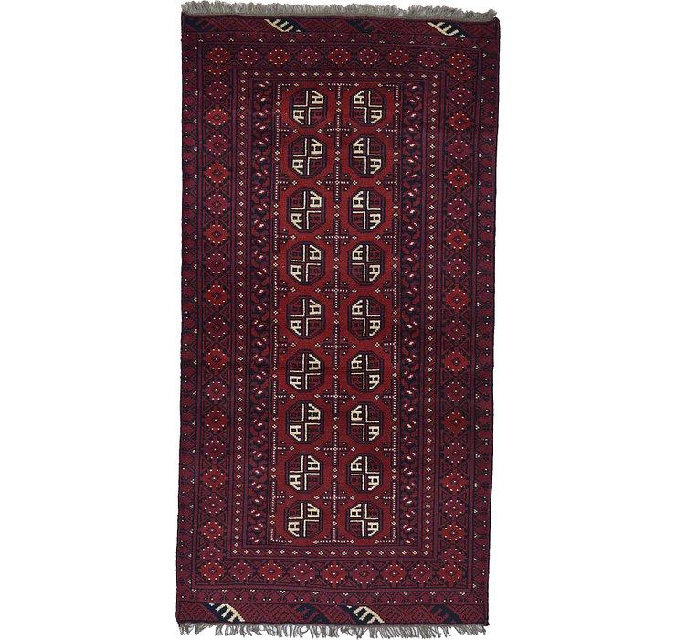 3' 4 x 6' 6 Afghan Akhche Rug