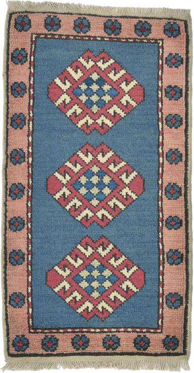 Blue 1 10 X 3 5 Kars Rug Area Rugs Irugs Uk