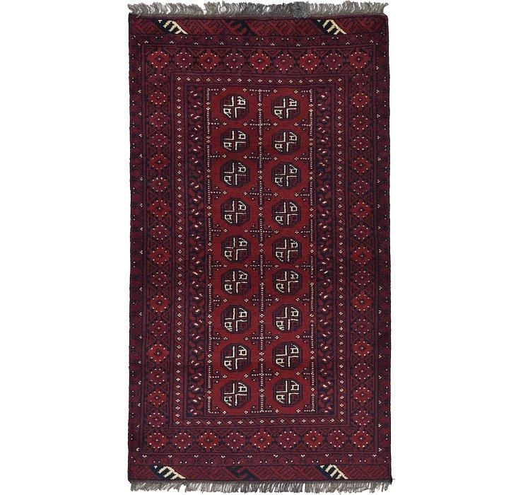 3' 4 x 5' 11 Afghan Akhche Rug