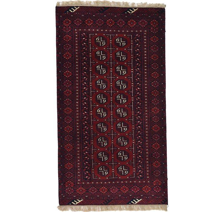 3' 5 x 6' 1 Afghan Akhche Rug
