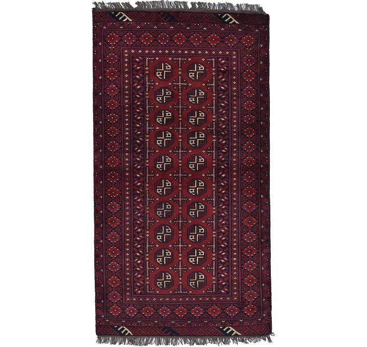 3' 5 x 6' 4 Afghan Akhche Rug