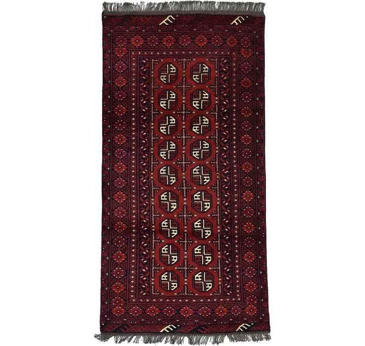 3' 3 x 6' 3 Afghan Akhche Rug