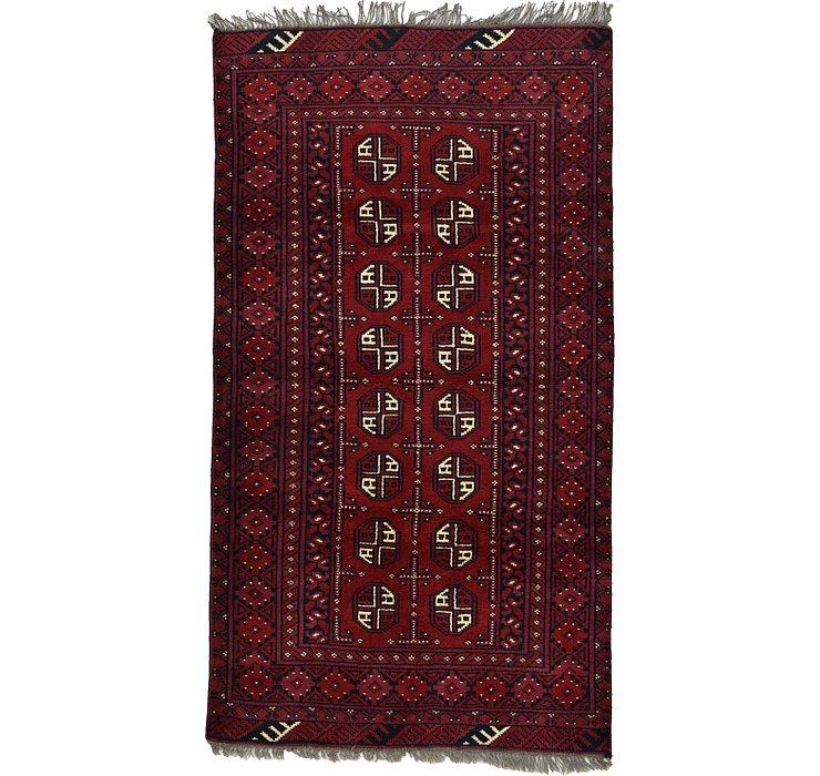 3' 4 x 6' Afghan Akhche Rug