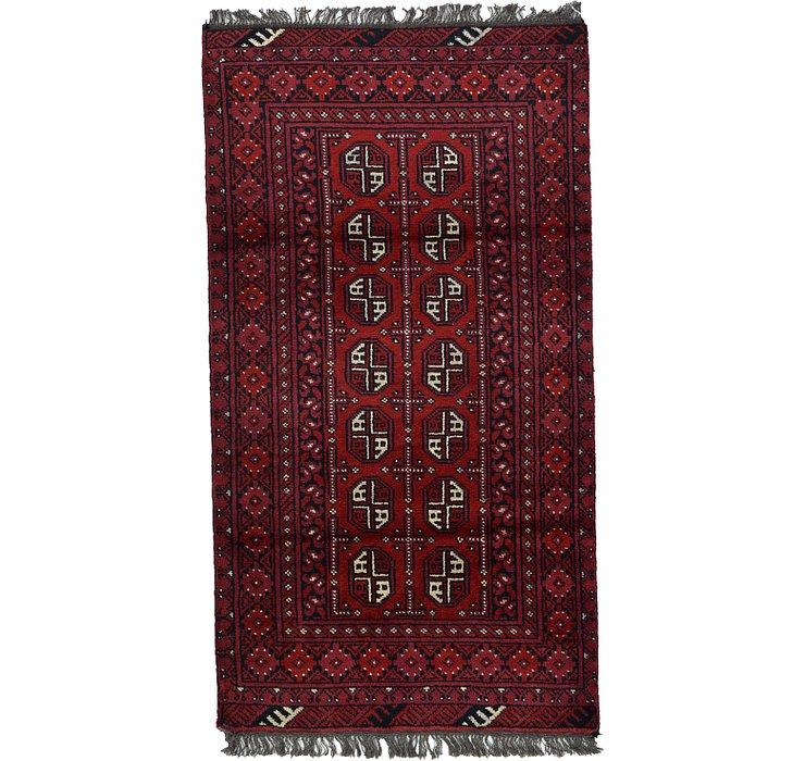 3' 3 x 5' 11 Afghan Akhche Rug