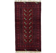 Link to Unique Loom 3' 3 x 6' 1 Afghan Akhche Rug