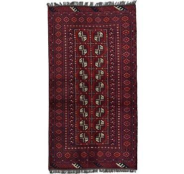 104x191 Afghan Akhche Rug