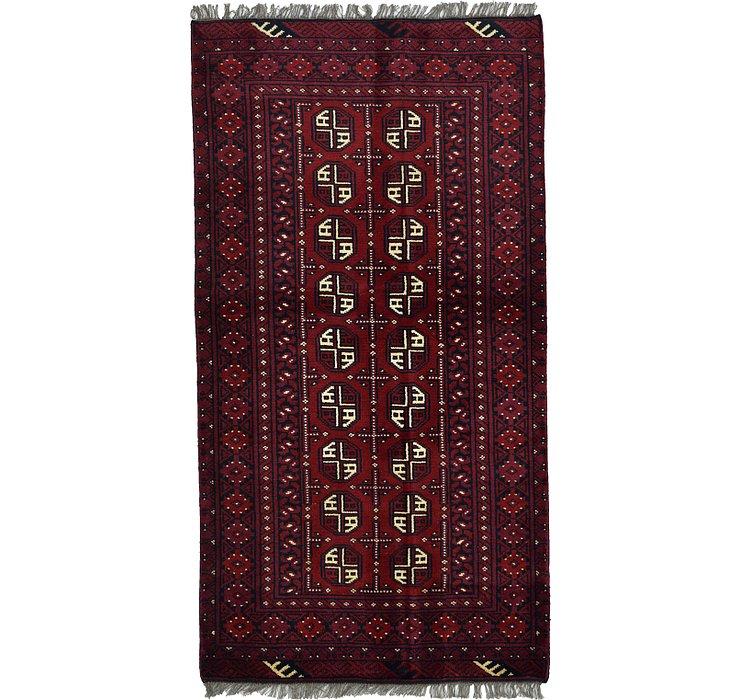 102cm x 190cm Afghan Akhche Rug
