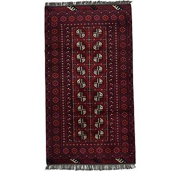 102x185 Afghan Akhche Rug