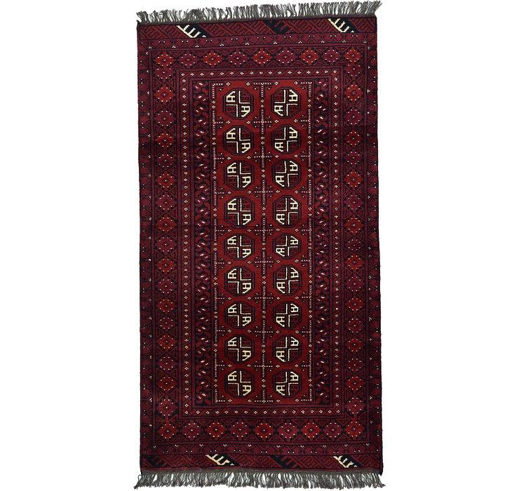 3' 3 x 6' 2 Afghan Akhche Rug