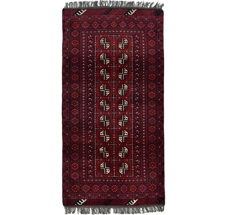 3' 4 x 6' 7 Afghan Akhche Rug