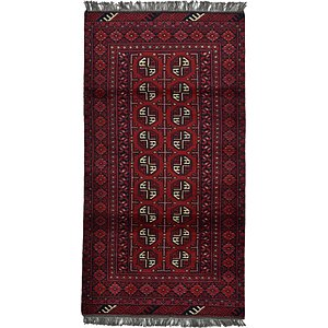 HandKnotted 3' 4 x 6' 3 Afghan Akhche Rug
