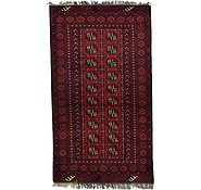 Link to HandKnotted 3' 4 x 5' 11 Afghan Akhche Rug