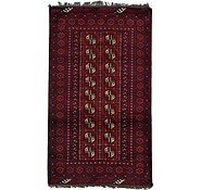 Link to 3' 6 x 6' Afghan Akhche Rug