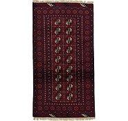 Link to 102cm x 193cm Afghan Akhche Rug