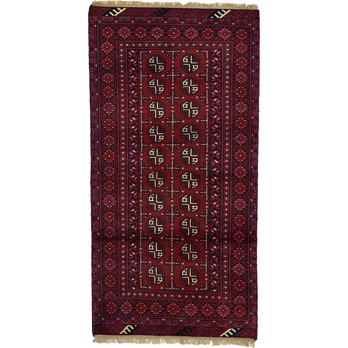 3' 3 x 6' 4 Afghan Akhche Rug