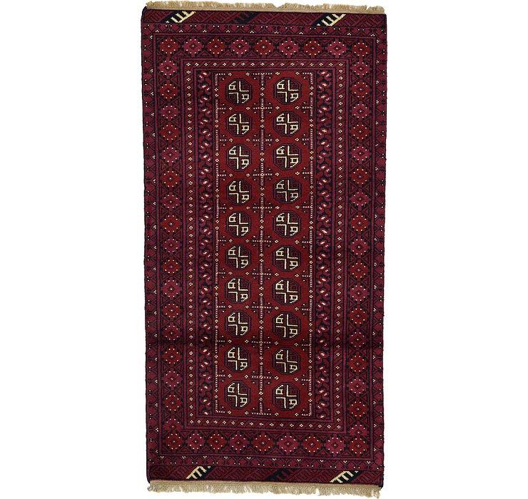 100cm x 193cm Afghan Akhche Rug
