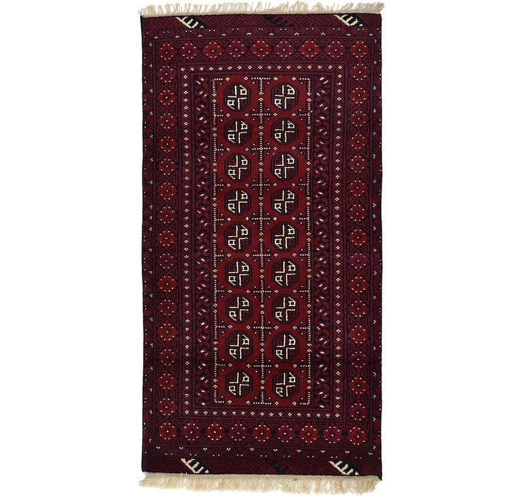 3' 2 x 6' 2 Afghan Akhche Rug