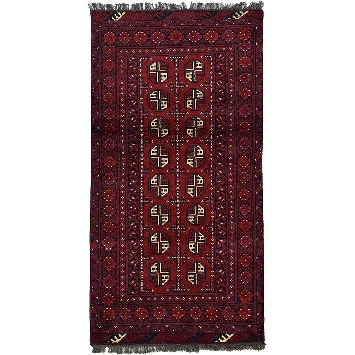 3' 4 x 6' 5 Afghan Akhche Rug
