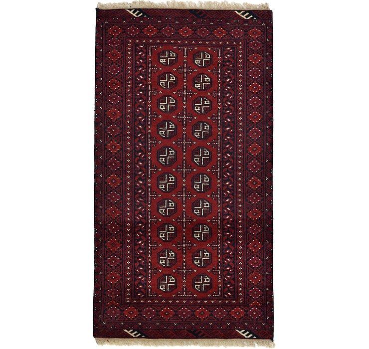 3' 4 x 6' 3 Afghan Akhche Rug