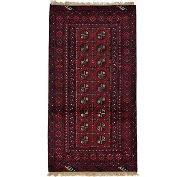 102x193 Afghan Akhche Rug