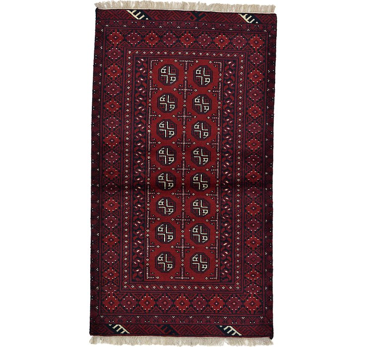 102cm x 183cm Afghan Akhche Rug