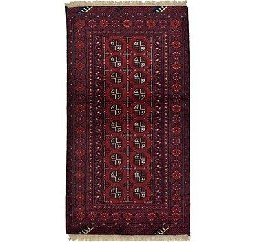 102x191 Afghan Akhche Rug