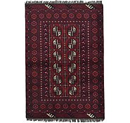 Link to 3' 4 x 4' 11 Afghan Akhche Rug