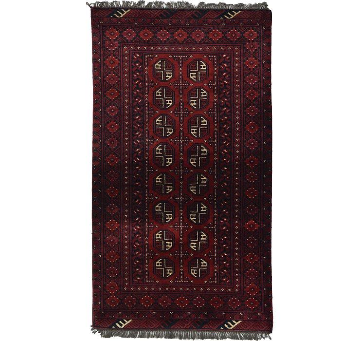 3' 3 x 5' 10 Afghan Akhche Rug