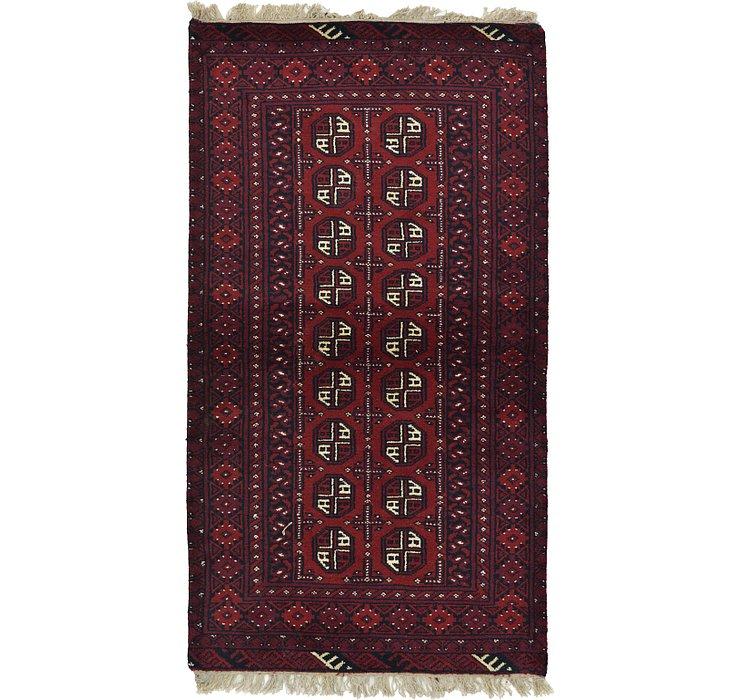 3' 5 x 6' 2 Afghan Akhche Rug