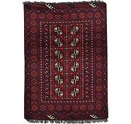 Link to 3' 5 x 4' 9 Afghan Akhche Rug