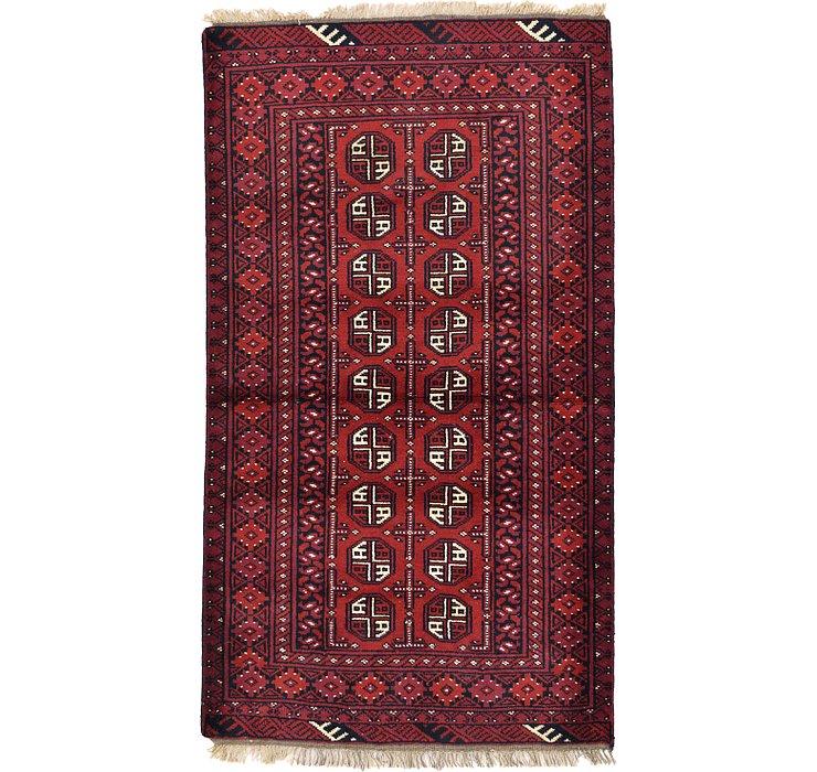3' 5 x 6' Afghan Akhche Rug