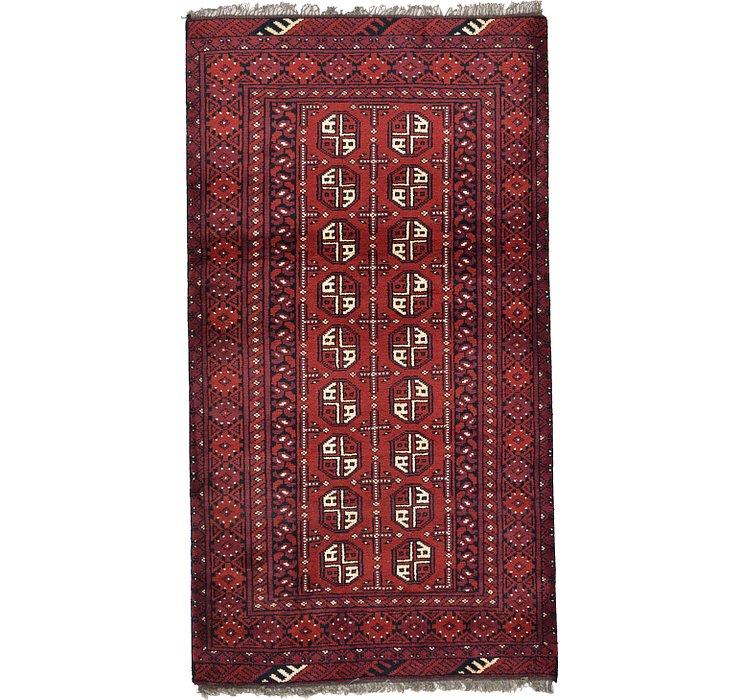 3' 3 x 6' 1 Afghan Akhche Rug