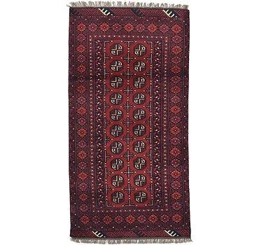 99x193 Afghan Akhche Rug