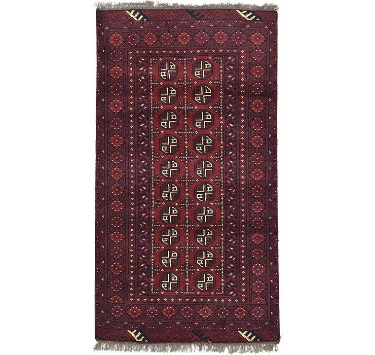 3' 3 x 6' Afghan Akhche Rug