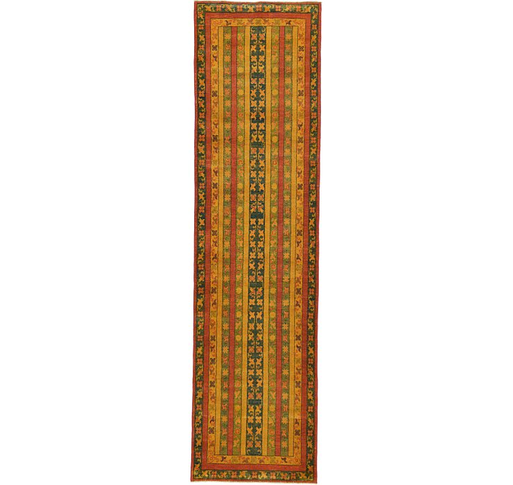 2' 9 x 10' 2 Kazak Oriental Runner Rug
