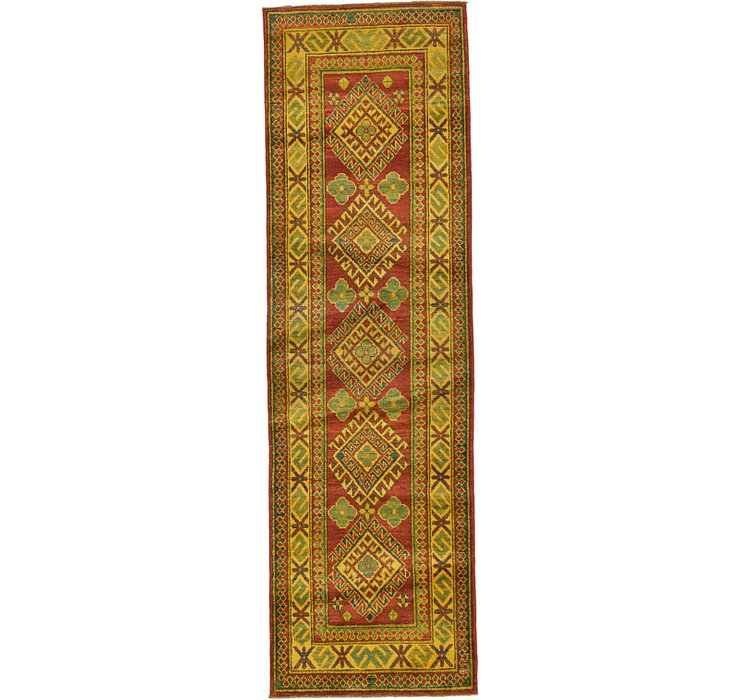 2' 9 x 9' 2 Kazak Oriental Runner Rug